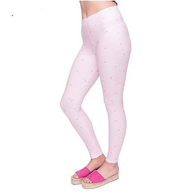 Pantalones De Yoga Serie Mujeres Legging Pink Flamingo Ropa Imprimir Leggings Moda Cintura Alta Mujer Pantalones Elásticos De Cintura (Color : Lga45928, Size : One Size): Ropa y accesorios