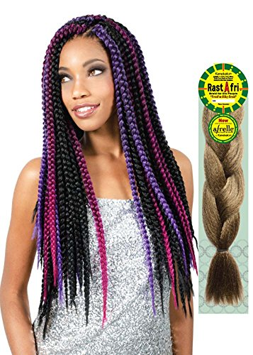 [ Pack of 2 ] Rast A Fri Freed'm Silky Braiding Hair (#1B - Off Black) -