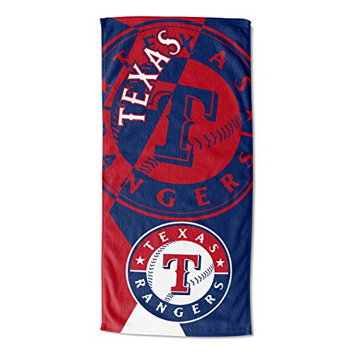 Officially Licensed MLB Texas Rangers Puzzle Beach Towel, 34