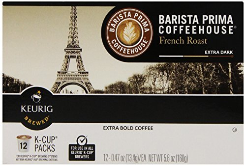 Barista Prima Coffeehouse Coffee Keurig K-Cups French Roast 72 Count [並行輸入品]   B07N4M8PZD