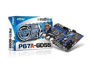 MSI P67A-GD55 (B3) - Placa base (Dual, Intel, 1GB, 2GB, 4GB, 8GB, PC, SATAII 3Gb/s, Intel P67)