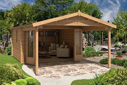 Alpholz Gartenhaus Spessart de Massiv-Holz Gerätehaus con 44 mm de espesor de la pared de jardín Holzhaus inklusive Montagematerial Geräteschuppen tamaño: 380 x 660 cm: Amazon.es: Jardín