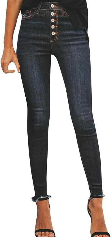 Pantalones Mujer Cintura Alta Vaqueros De Rotos Ultra Moda Vaqueros Pitillo Mujer Originals Casual Pantalon Moda Slim Skinny Elasticos Jeans Pantalones De Mezclillade Mujer Amazon Es Ropa Y Accesorios