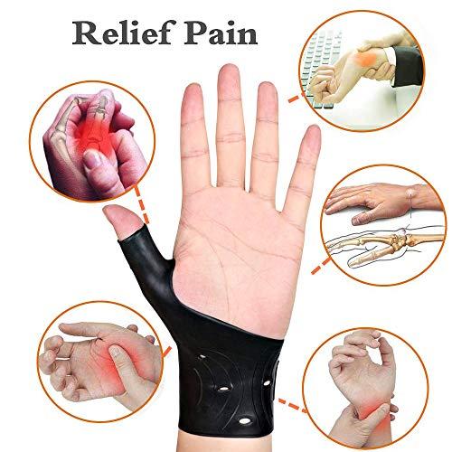4 Pcs Waterproof Wrist Thumb BraceGel Thumb Wrist Brace for Typing Yoga Golf Workout and