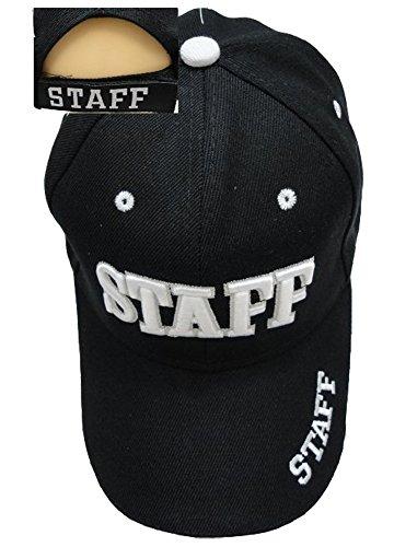 ffc0b08ec3b88d Staff Law Enforcement & Security Guard Baseball Cap Hat, White 3D Embroidery,  Breathe Holes
