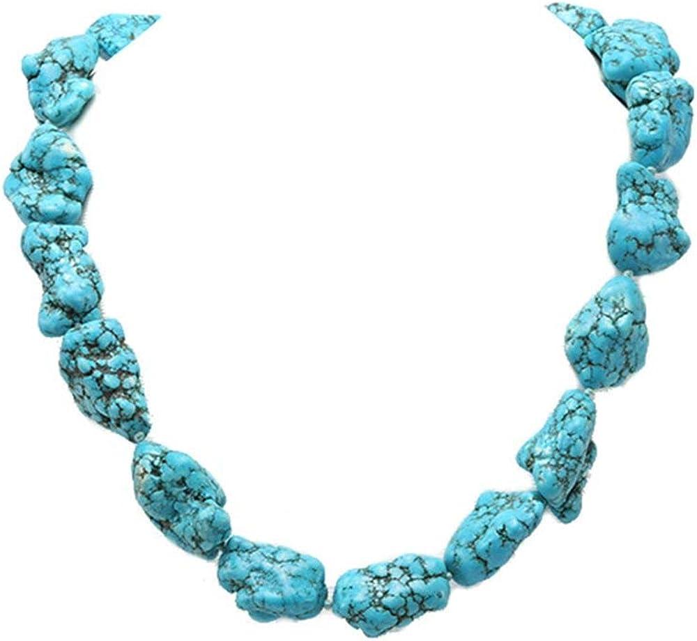 JYX Pearl - Collar de lapislázuli turquesa de azul barroco