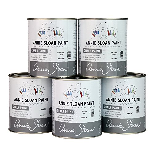 Chalk Paint (R) by Annie Sloan – Decorative Paint for Furniture, cabinets, Floors, Home Decor, and Accessories – Water-Based – Non-Toxic – Matte Finish (Quart - 32oz, Napoleonic Blue) by Annie Sloan (Image #4)