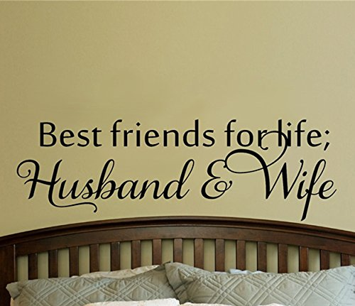 - YINGKAI Best Friends for Life, Husband and Wife Cute Bedroom Decorative Carving Vinyl Wall Decal Sticker Art for Home Decoration