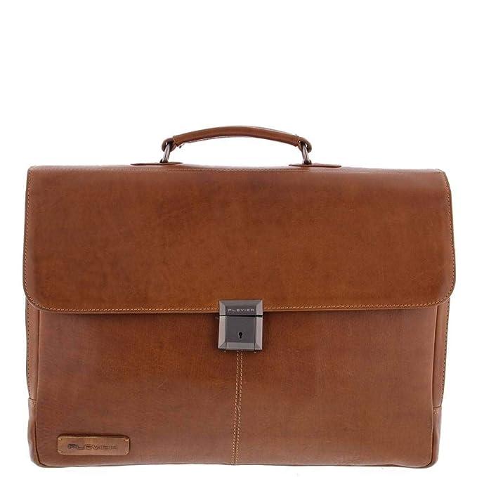 71f7065795c Plevier Decca Leren 2-vak Laptoptas 17,3 inch Bruin: Amazon.de: Koffer,  Rucksäcke & Taschen