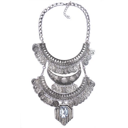 Fashion Necklace Pendant Women Jewelry Crystal Costume Big Vintage Chunky Coin Bohemian. Diamond Accent Heart Tag Bracelet