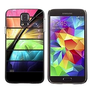 TopCaseStore / la caja del caucho duro de la cubierta de protección de la piel - Space Color Vibrant Futuristic - Samsung Galaxy S5 SM-G900