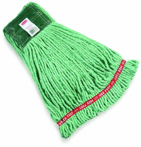 (Rubbermaid Commercial Web Foot Shrinkless Wet Mop, Medium, Green, FGA25206GR00)