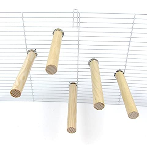 Alfie Pet by Petoga Couture - Joseph Natural Wood Perch 5-Piece Set for Birds - Size: Small - Wooden Perch