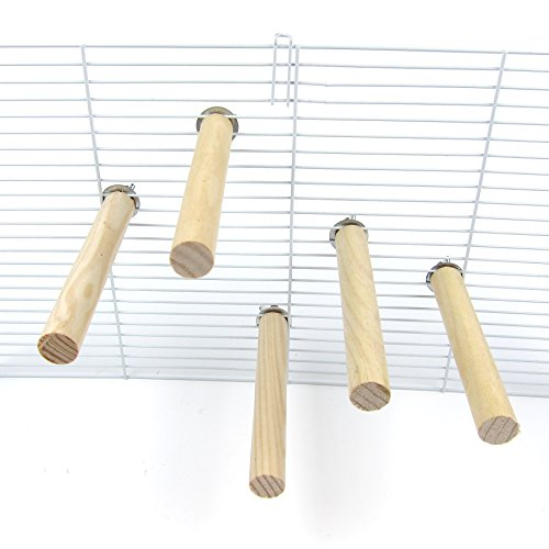 (Alfie Pet - Joseph Natural Wood Perch 5-Piece Set for Birds - Size: Small)
