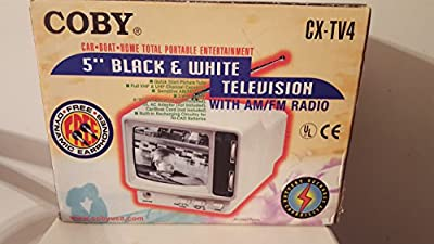 "Coby Cx-tv4 5"" Black And White Television With Am/fm Radio from COBY USA"