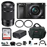 Sony Alpha a6000 Mirrorless Camera w/ 16-50mm & 55-210mm Lens and 32GB Memory Card