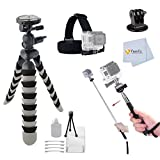 Flexible Gripster Tripod Accessory Kit Made to be used with GoPro Hero [2, 3, 3+ or 4] camera Cameras Includes: Head Strap + Gopro Tripod Adapter + Starter Kit