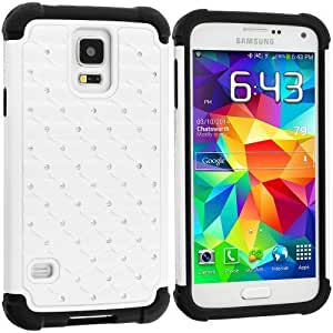 Hu Xiao Accessory Planet White Hard Deluxe Hybrid Diamond Bling case cover for Samsung RvVVv5NzWvR Galaxy S5