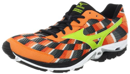 Mizuno Men's Wave Elixir 8 Running Shoe,Vibrant Orange/Lime/Anthracite,7 D US