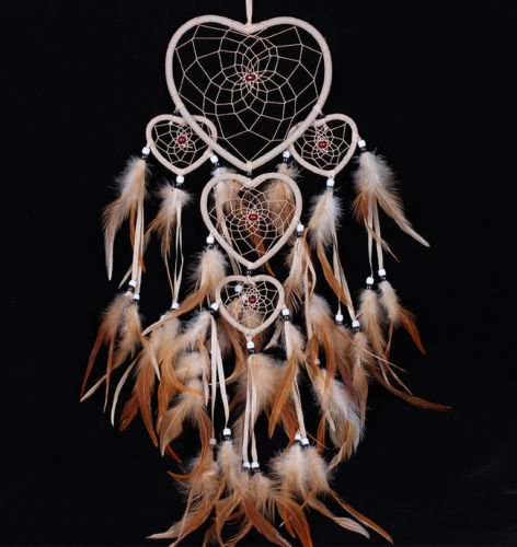 UNAKIM--Handmade Dream Catcher with feathers car or wall hanging decoration ornament (Manchester United Bedroom Lamp)