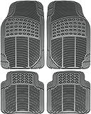 OxGord Universal Fit Rear Diamond HeavyDuty Rubber Runner Floor Mat Liner - (Gray)