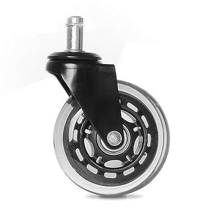 PU 5Inch 4pcs Roulette Roue Noir Universelle Circlip Forte 2 SpzLMjqUGV