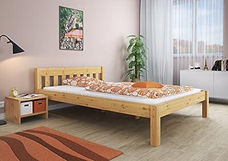 Letto matrimoniale Letto Matrimoniale 180 X 200 letto legno pino ...