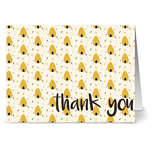 (Honey Hives - 36 Note Cards - Blank Cards - Kraft Envelopes Included)