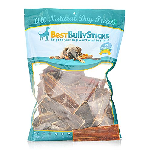 Best Bully Sticks 5-6 Inch Gullet Wraps-Beef Jerky for Dogs - 50 Pack
