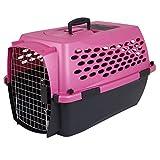 Petmate Fashion Vari Kennel, 10-20lbs, Dark Pink/Black For Sale