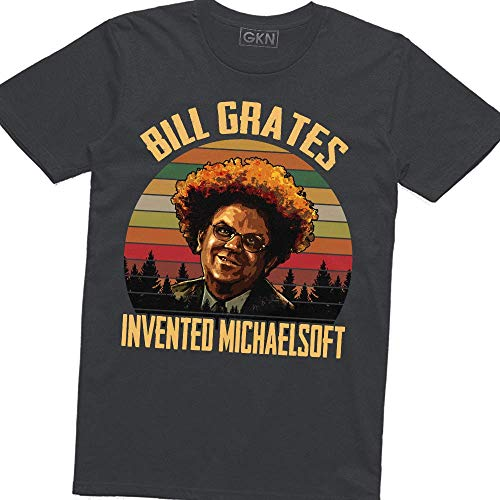 Bill Grates Invented Michaelsoft Vintage Retro T-Shirt Check It Out! with Dr. Steve Brule Dark Heather (Best Of Steve Brule)