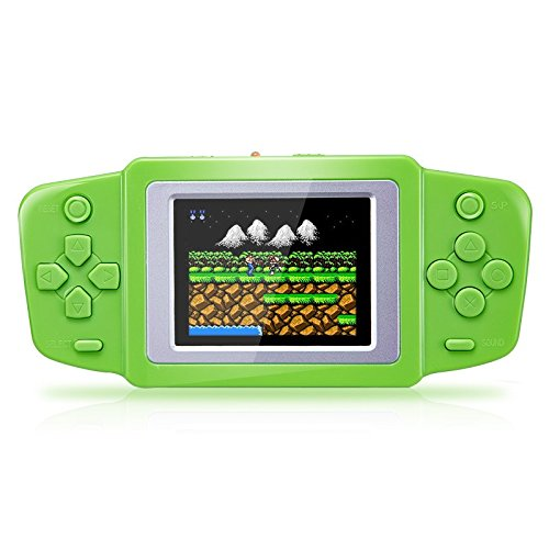 Game Player - 2.5'' Ultra-Thin Portable Video Game Player 268 8 bit NES Classic Games gamepad children's Puzzle game video game console - Video Game Player (Green)