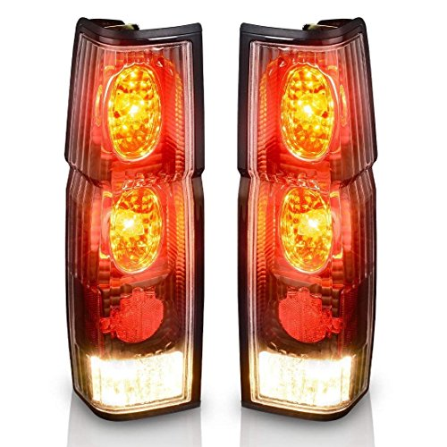 (Taillights Tail Lamps For Nissan Hardbody D21 1986-1994 Hardbody Pickup 1995 1996 1997 (Black Clear Assembly Replacement D21 & Pickup Models)