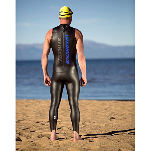 Triathlon Wetsuit 5/3mm Men's Synergy Endorphin Sleeveless Long John Smoothskin Neoprene for Open Water Swimming Ironman Approved