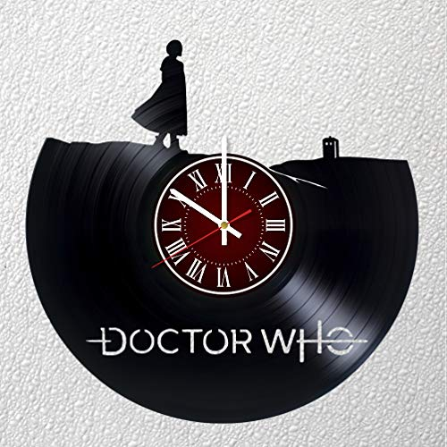DOCTOR WHO Art 12 inches /30 cm Vinyl Record Wall Clock | DR WHO Fan Gift | Breaking Bad Clock | Children's Room Decor Idea | MARVEL Home Art Party DR WHO Movie art DOCTOR WHO BOYS