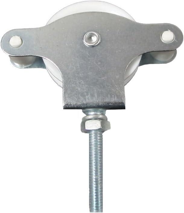 0.23x0.15x1.5 cm 6 Unidades Monchy Set de poleas Tornillo con Tuerca Blanco Metal