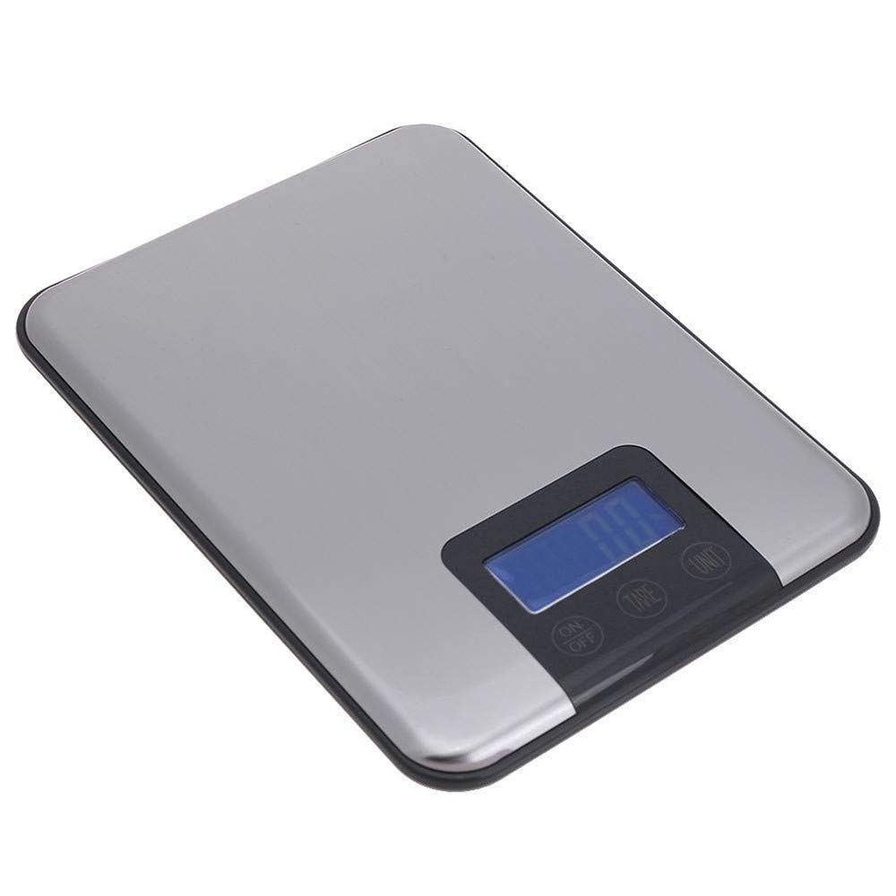TechCode Digital Scale for Home, 5KG/1g Portable Touch Button LCD Digital Scales Slim Stainless Steel Kitchen Electronic Scale Food Herb Jewelry Baking Weight Balance Scale for Cooking/Dieting/Baking