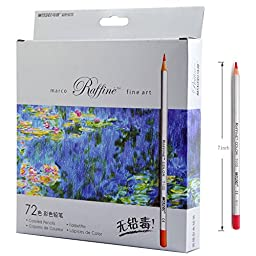iBayam 72 Assorted Colored Pencil Art Drawing Pencil for Adult Coloring Book Kids Artist Sketch Writing Manga Artwork 72 Assorted Colors