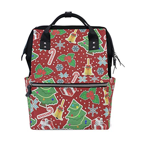 Diaper Bags Christmas Trees Snowflakes and Gifts Fashion Mummy Backpack Multi Functions Large Capacity Nappy Bag Nursing Bag for Baby Care for Traveling