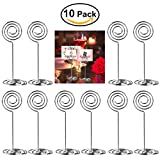 : ULTNICE 10pcs Swirl Table Number Photo Holder Stands for Weddings Party Gatherings