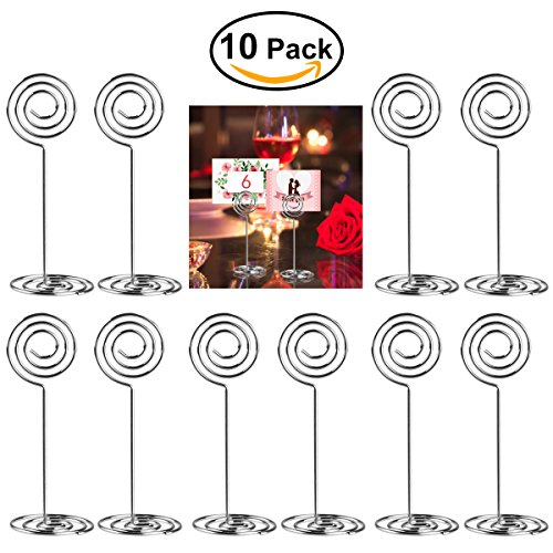 ULTNICE 10pcs Swirl Table Number Photo Holder Stands for Weddings Party Gatherings