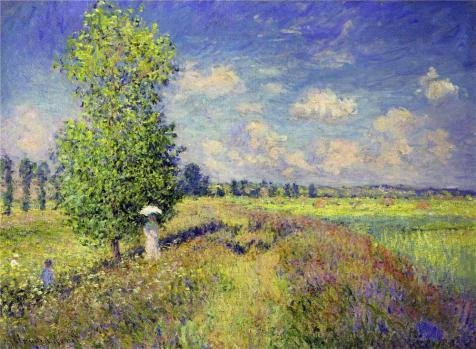 Oil Painting 'The Summer, Poppy Field, 1875 By Claude Monet' 30 x 41 inch / 76 x 104 cm , on High Definition HD canvas prints is for Gifts And Game Room, Home Theater And Nursery Decoration by LuxorPre