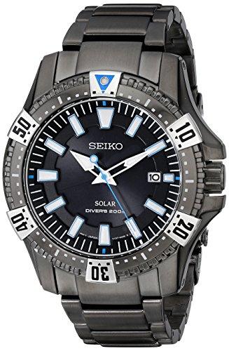 Drive Blue Dial Watch - Seiko Men's SNE281 Analog Display Japanese Quartz Black Watch