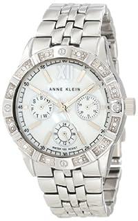 Anne Klein Women's AK/1001MPSV Swarovski Crystal Accented Silver-Tone Watch (B008BM3C8G) | Amazon price tracker / tracking, Amazon price history charts, Amazon price watches, Amazon price drop alerts