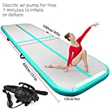 FBSPORT air Track Tumbling mat Inflatable Gymnastics airtrack with Electric Air Pump for Practice Gymnastics, Tumbling,Parkour, Home Floor and Martial Arts