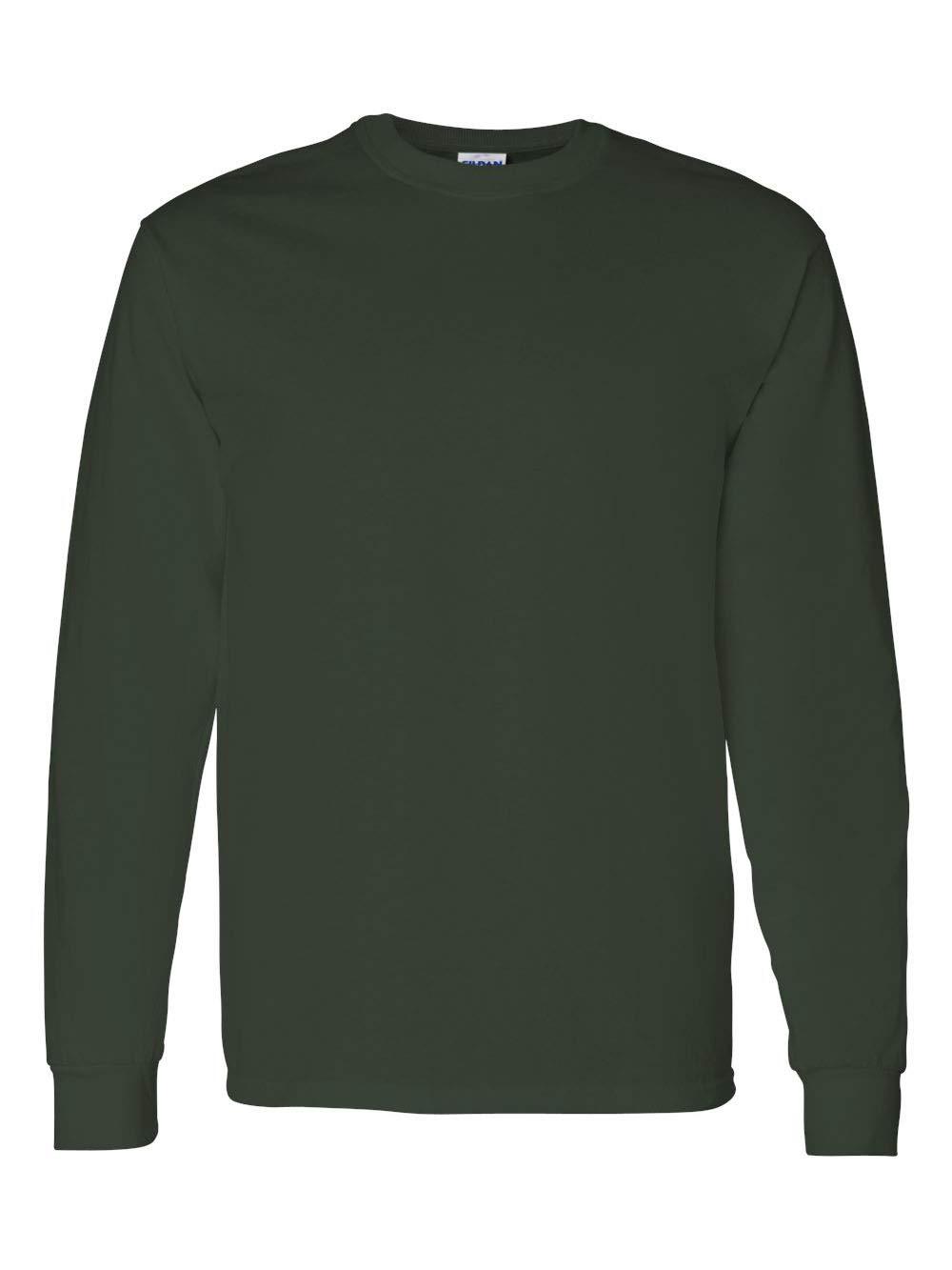 Gildan G5400 5.3 oz. Heavy Cotton Long-Sleeve T-Shirt, Forest Green, 3XL