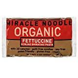 Miracle Noodle Organic Shiritaki Konjac Fettuccine Pasta, 7 oz (Pack of 6), Low Carbs, Low Calorie, Gluten Free, Soy Free, Keto Friendly