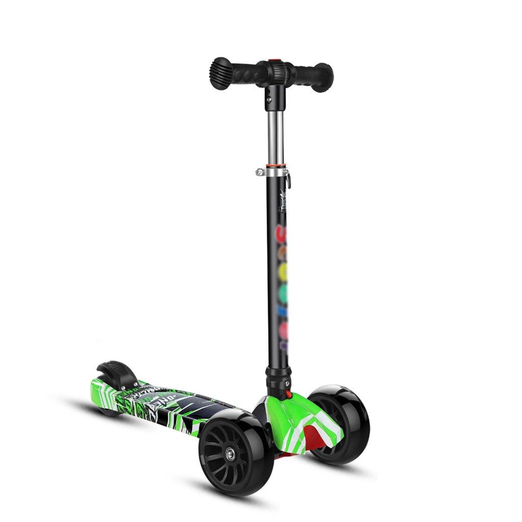 大特価 折りたたみ式スクーター多機能学生リフティングスイングカーヨーヨーおもちゃフラッシュホイール5-15歳(63* 29* Green 86Cm) B07FZ5XVC1 Green 86Cm) Green Green, 野田市:da39e041 --- a0267596.xsph.ru