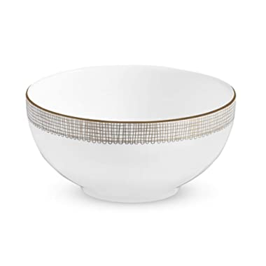 Wedgwood Gilded Weave Rim Soup Plate, 9 , White