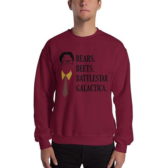 Payatek Bears Beets Battlestar Galactica Sweatshirt The Office Ugly
